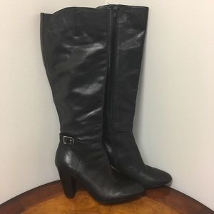 Marc Fisher Shayna Black Tall Wide Calf Boots